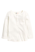 Jersey top with lace - White - Kids | H&M CN 2