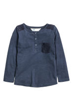 Jersey top with lace - Dark blue - Kids | H&M CN 2