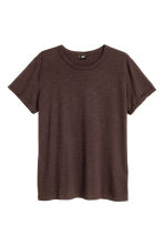 Slub jersey T-shirt - Dark brown - Men | H&M CN 2