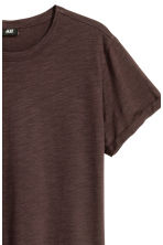 Slub jersey T-shirt - Dark brown - Men | H&M CN 3