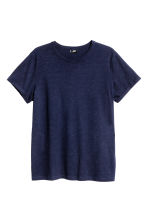 Slub jersey T-shirt - Dark blue - Men | H&M CN 2