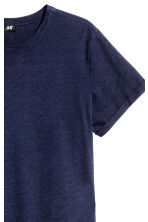 Slub jersey T-shirt - Dark blue - Men | H&M CN 3