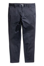 Slim Cropped Chinos - Dark blue - Men | H&M CN 2