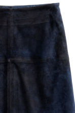 Gonna in pelle scamosciata - Blu scuro - DONNA | H&M IT 3