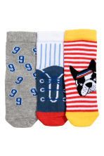 3-pack socks - Red/Dog - Kids | H&M CN 2