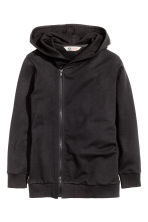 Hooded jacket - Black - Kids | H&M CN 2