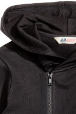 Hooded jacket - Black - Kids | H&M CN 4