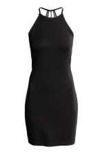 Fitted halterneck dress - Black -  | H&M CN 2