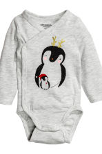 3-part jersey set - Light grey/penguins - Kids | H&M CN 4