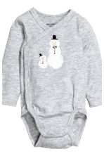 3-part jersey set - Light grey/Snowman - Kids | H&M CN 2