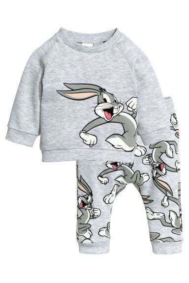 Sweatshirt and trousers - Grey/Looney Tunes - Kids | H&M CN