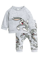 Sweatshirt and trousers - Grey/Looney Tunes - Kids | H&M CN 1