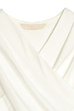 Wrapover top - White - Ladies | H&M CN 2