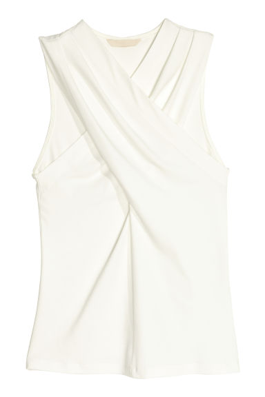 Wrapover top - White - Ladies | H&M CN 1