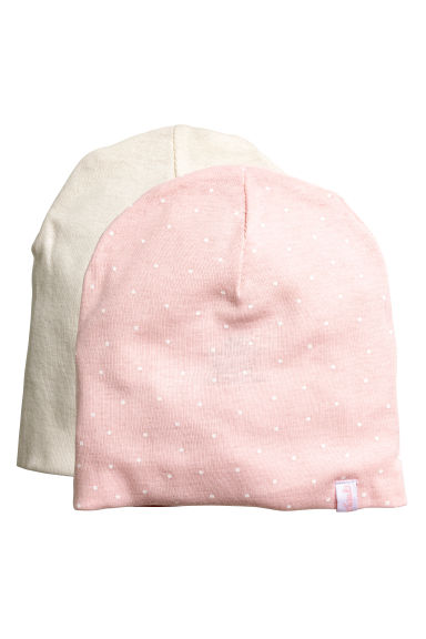 2-pack hats - Light pink - Kids | H&M