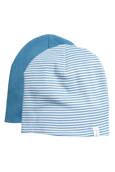2-pack hats - Blue - Kids | H&M GB
