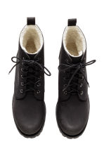 Pile-lined boots - Black - Ladies | H&M CN 2