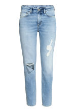 Relaxed Skinny Ankle Jeans - 浅牛仔蓝 - Ladies | H&M CN 2