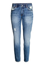Relaxed Skinny Ankle Jeans - 牛仔蓝 - Ladies | H&M CN 1