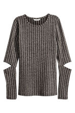 Glittery top - Dark grey/Silver -  | H&M CN 2