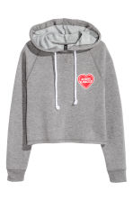 Short hooded top - Grey marl - Ladies | H&M CN 2