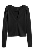 Jersey top - Black - Ladies | H&M GB 2