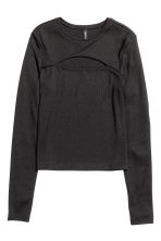 Fitted top - Black - Ladies | H&M CN 2