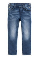 Loose Jeans with buttons - Denim blue - Kids | H&M CN 2