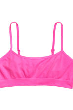 2-pack crop tops seamless - Neon pink - Kids | H&M CN 2