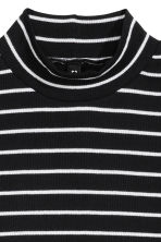Turtleneck body - Black/Striped - Ladies | H&M CN 3