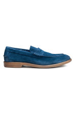 Suede loafers - Blue -  | H&M CN 1