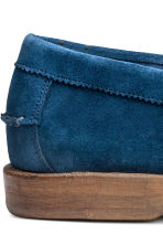 Suede loafers - Blue -  | H&M CN 4