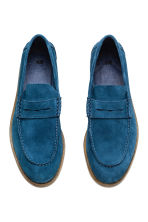 Suede loafers - Blue -  | H&M CN 2