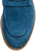 Suede loafers - Blue -  | H&M CN 3