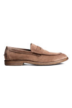 Suede loafers - Dark beige - Men | H&M CN 1
