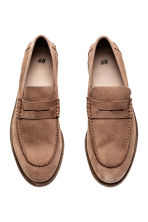 Suede loafers - Dark beige - Men | H&M CN 2