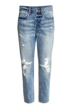 Vintage High Cropped Jeans - Denim blue trashed - Ladies | H&M CN 2