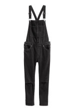 Denim dungarees - Black denim - Ladies | H&M 2