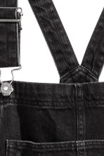 Denim dungarees - Black denim - Ladies | H&M 4