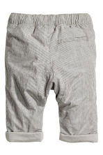 Lined cotton trousers - Grey/Striped - Kids | H&M CN 2