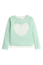Mint green/Heart