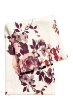 Patterned tube scarf - Natural white/Floral - Ladies | H&M CN 2