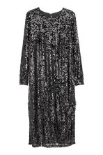 H&M+ Sequined dress - Black - Ladies | H&M CA 2