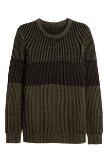 Block-striped jumper