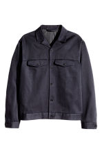 Cotton twill shirt jacket - Dark blue - Men | H&M CN 2