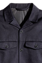 Cotton twill shirt jacket - Dark blue - Men | H&M CN 3