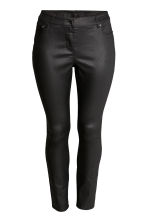 H&M+ Slim Coated Jeans - Black - Ladies | H&M 2
