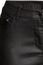 H&M+ Slim Coated Jeans - Black - Ladies | H&M 3