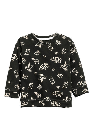 Printed sweatshirt - Dark grey - Kids | H&M CN 1