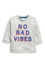 Printed sweatshirt - Grey marl - Kids | H&M CN 1